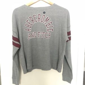 ABERCROMBIE AND FITCH waffle texture sweater